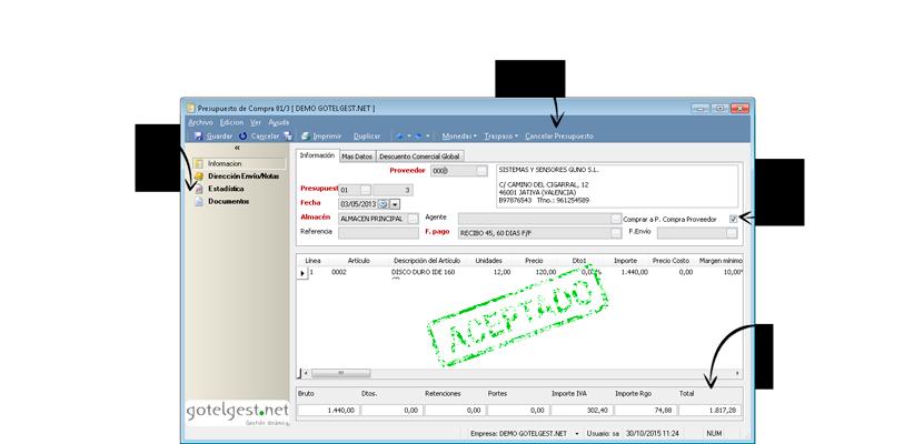 Solicitar una oferta a nuestros proveedores no será un problema - Software gestión comercial