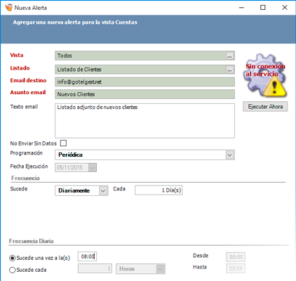 Configure diferentes alertas preprogramadas - Programas de contabilidad