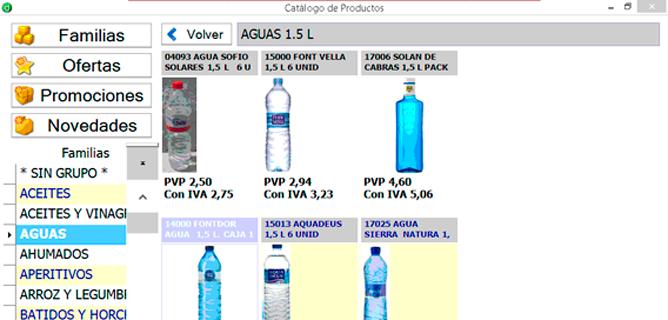 Ejecute acciones de compra directamente sobre la imagen del artículo - Software preventa