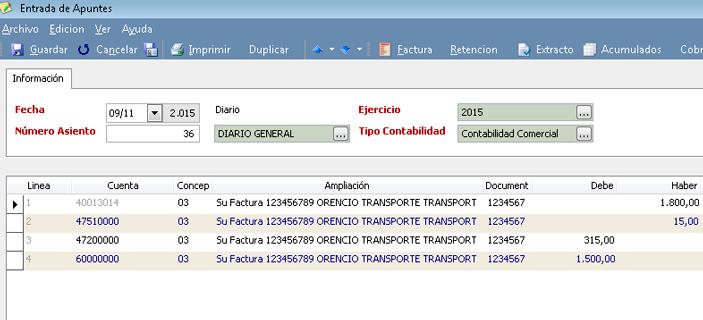 Disponga de la operativa de renumeración de asientos en relación a la fecha contable - Programa de Contabilidad