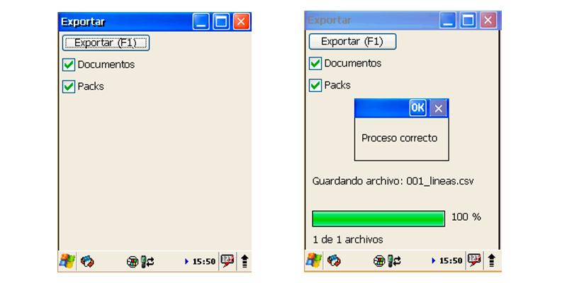 Integración de la PDA para importa y exportar datos - Software control almacén