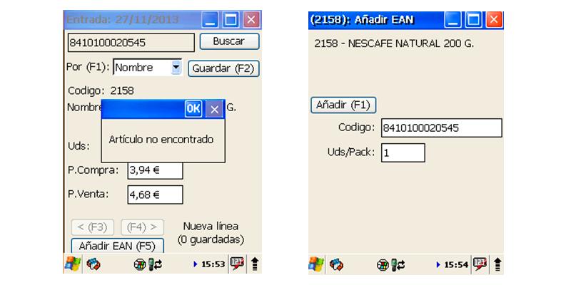 GotelGest.Net facilita la lectura y edición de códigos de barras - Software control almacén