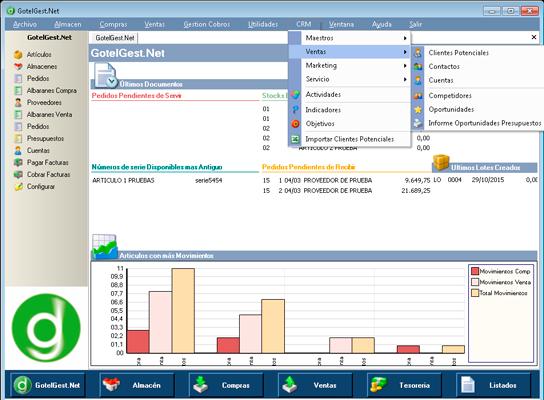El módulo CRM se integra a la perfección con el software de gestion GotelGest.Net