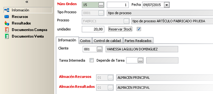 Tenga en cuenta el stock reservado en los informes de órdenes de producción - Software de producción