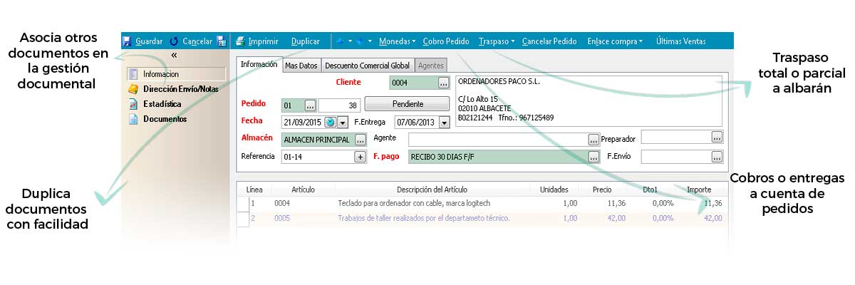 Asocie, traspase o duplique documentos con gran facilidad - Software de facturacion