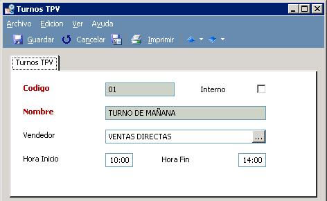 Configure los diferentes turnos de trabajo con GotelGest.Net - TPV Táctil