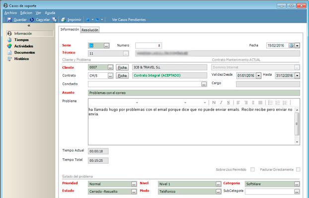 Completas bases de datos con tus casos de soporte con el software CRM de GotelGest.Net