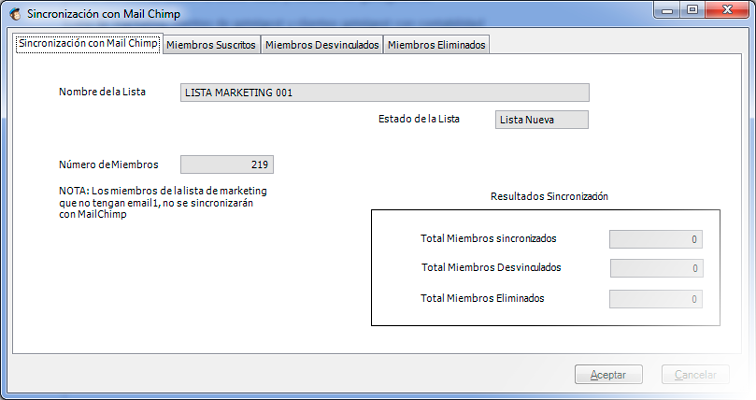 La integración con Mailchimp es muy sencilla con el software marketing y ventas CRM de GotelGest.Net