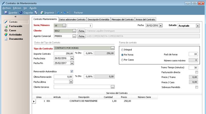 Crea contratos de mantenimiento totalmente configurables con nuestro programa de atencion al cliente